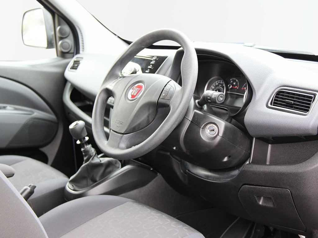Interior of a Blue Fiat Doblo wheelchair accessible vehicle for sale