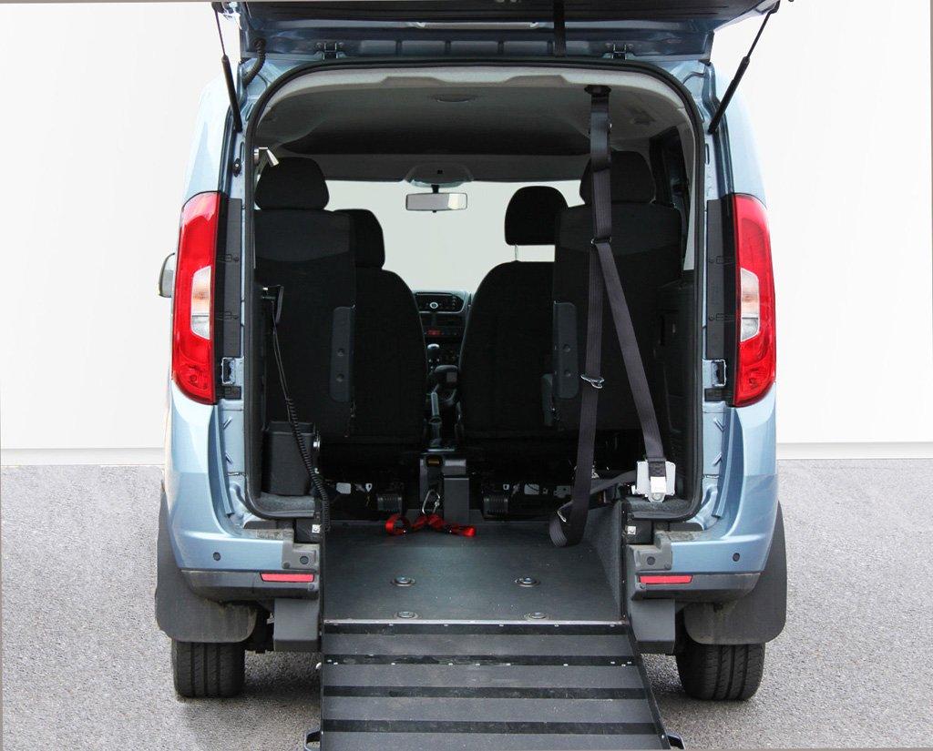 Blue Fiat Doblo wheelchair accessible vehicle
