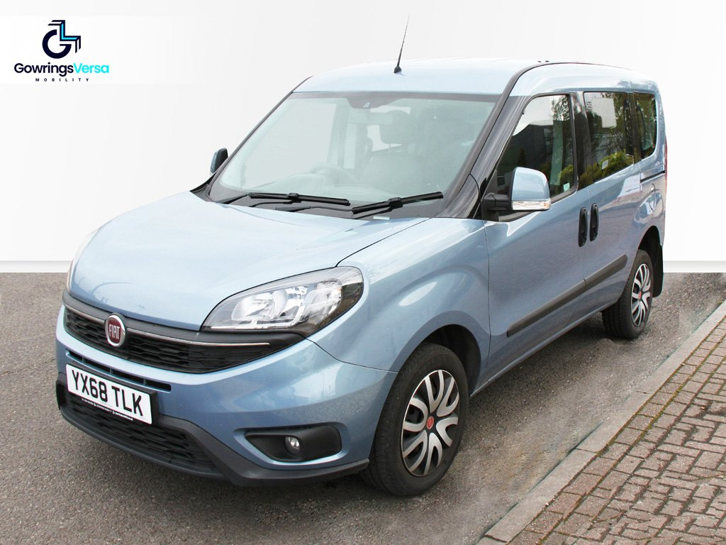 Blue Fiat Doblo wheelchair accessible vehicle for sale
